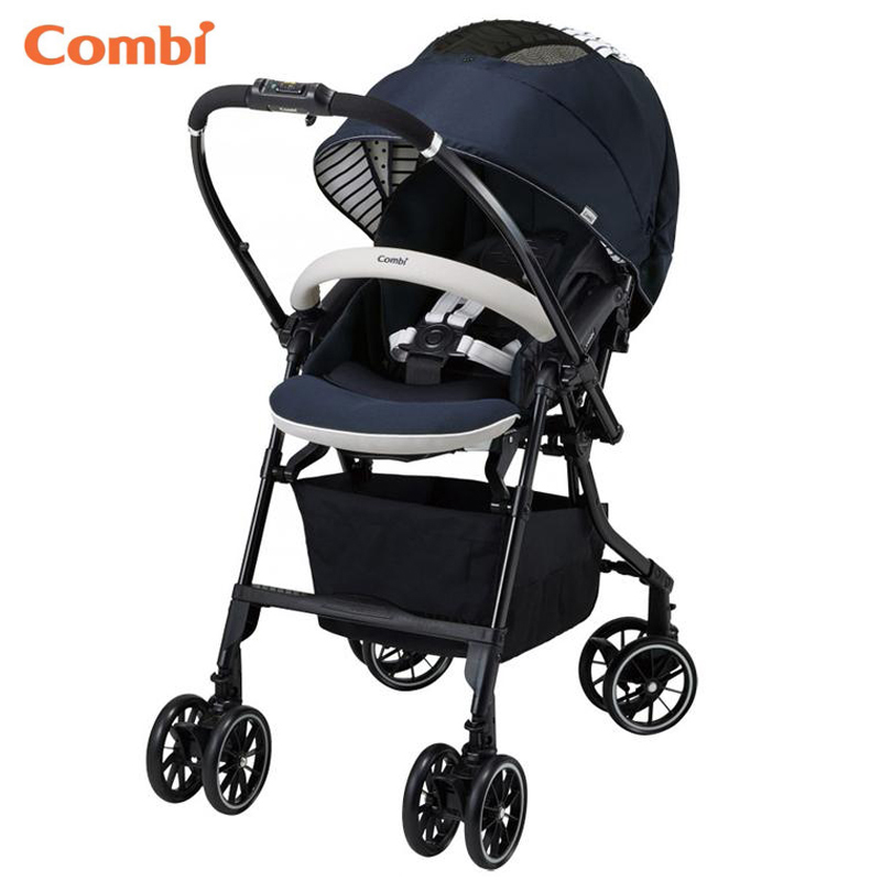Combi Navy Blue Mechacal Handy Auto 4cas Baby Stroller Egg Shock The Lightest