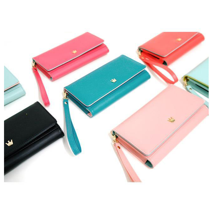 Donbook Woman Long Wallet Purse Card Leather Bag Vesion K Gift