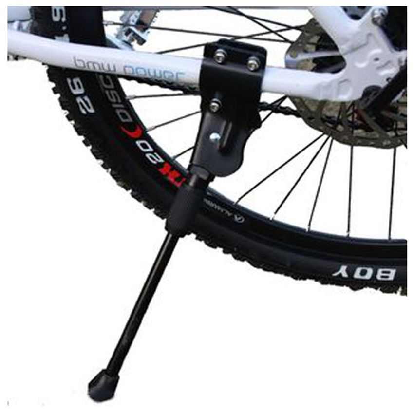 Universal Bicycle Stand Mountain Bike Bicycle Aluminum Foot Brace Hole (Black)