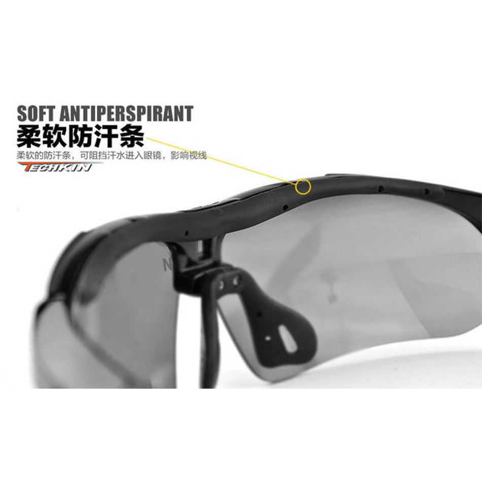 Sports 5 Pcs Sun Glasses Eyewear Hd Vision Anti Glare Protect Eye New