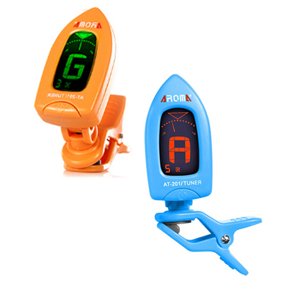 AT201 Portable Clip On Guitar Electric Chromatic Tuner Color Screen Digital