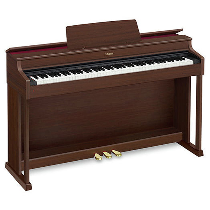 88 Key Casio AP-470 Brown Celviano Piano Bench Weighted Scaled Hammer Action Tri-Sensor Keys Lvory Touch