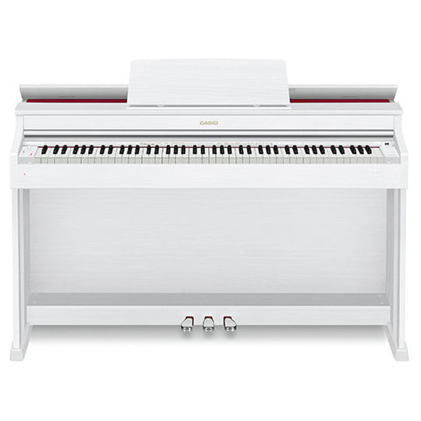 88 Key Casio AP-470 White Celviano Piano Bench Weighted Scaled Hammer Action Tri-Sensor Keys Lvory Touch