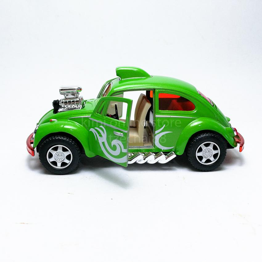 Kinsmart 1:32 Die-cast Volkswagen Beetle Custom Dragracer Car Model with Box