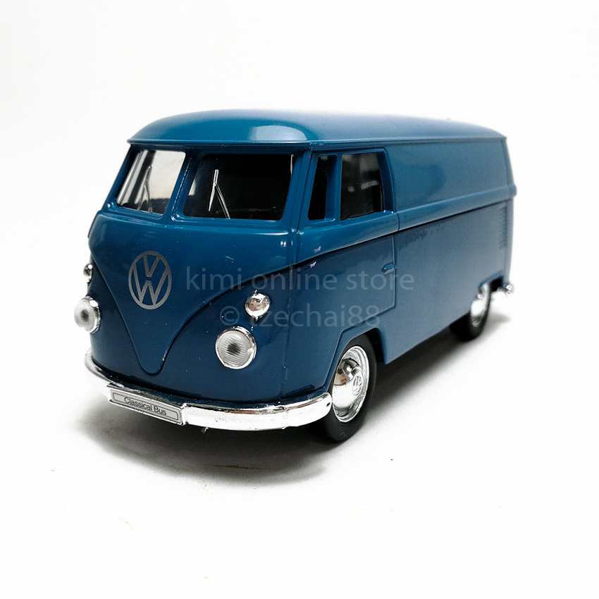 Welly 1:34-1:39 Die-cast 1963 Volkswagen T1 Bus Blue Model with Box Collection
