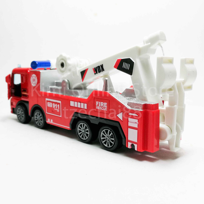 Fire Tow Truck 1:50 Die-cast Red Model with Box Collection New Gift