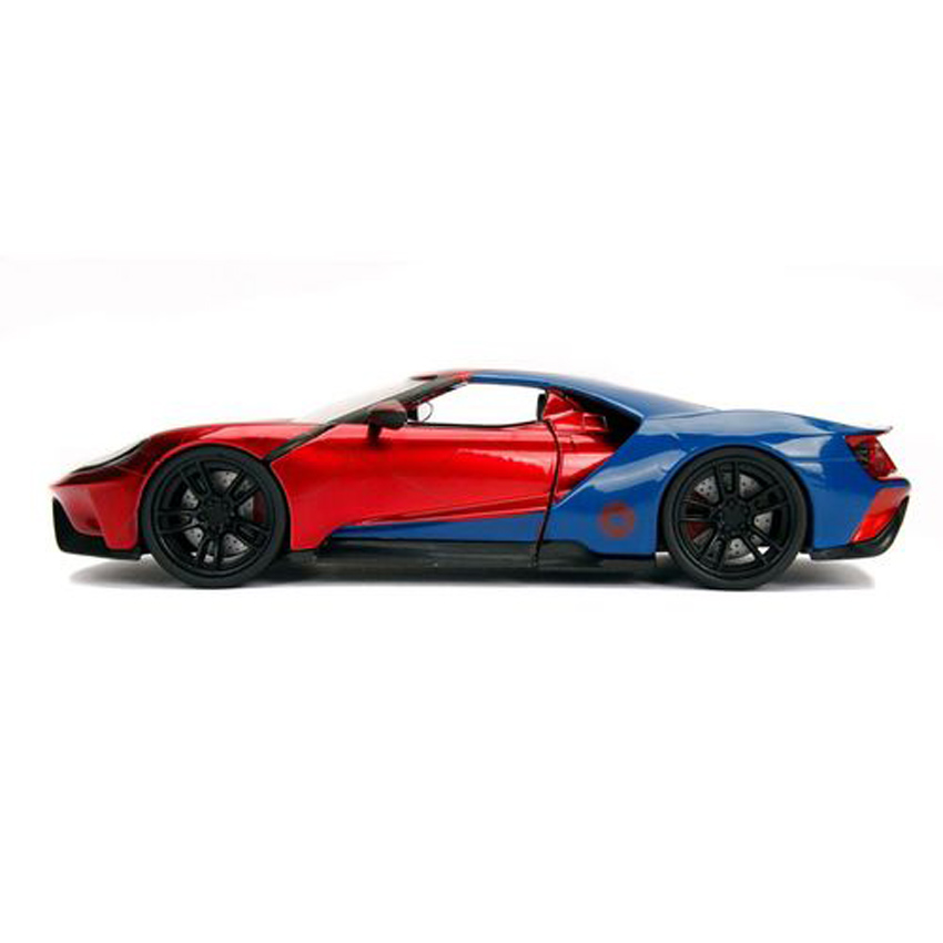 Jada 1:24 Die-Cast Hollywood Rides Marvel 2017 Ford GT with Spider-Man Model Collection