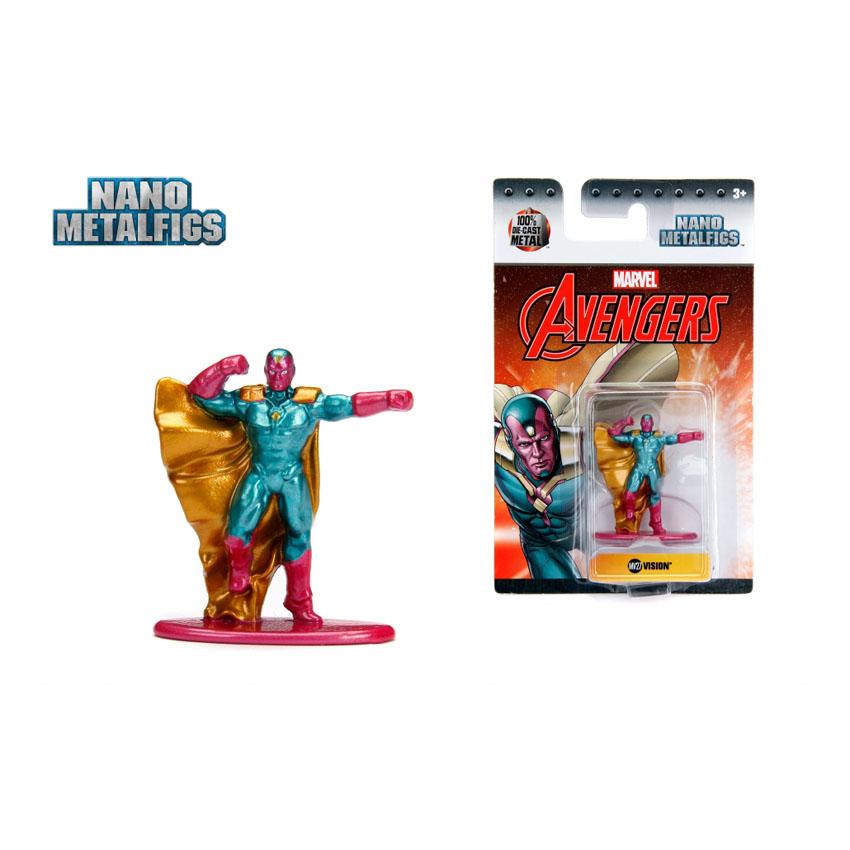 JADA 1.65\'\' Nano Metalfigs Vision (MV27) Marvel The Avengers Action Figure Metal Diecast