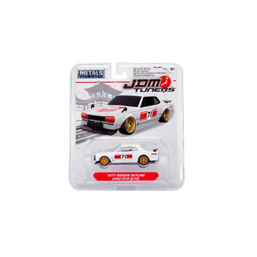 Jada 1:64 JDM Tuners Die-Cast 1971 Nissan Skyline 2000 GT-R (C-10) Car White Model Collection