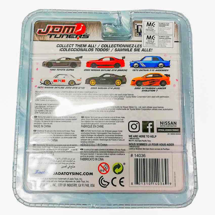 Jada 1:64 JDM Tuners Die-Cast 2002 MItsubishi Lancer Evolution 7 Car Orange Model Collection