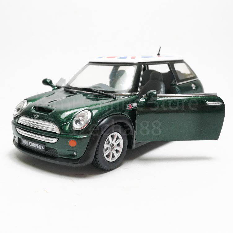 Kinsmart 1:28 Die-cast Mini Cooper S UK Flag Printing Car Model with Box Collection