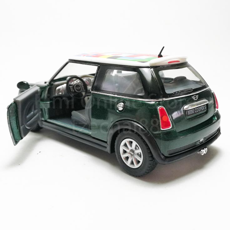 Kinsmart 1:28 Die-cast Mini Cooper S International Flag Printing Car Model with Box Collection