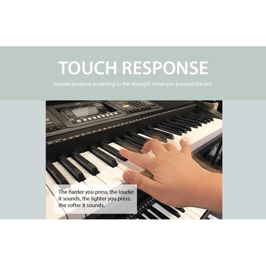 Meike MK-812 61 Key Touch Control Electronic Piano Digital Keyboard + Free  Headphone