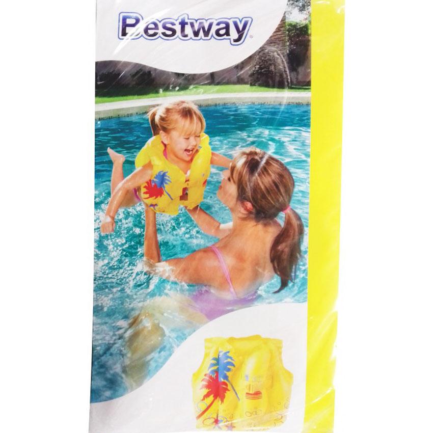 9889de6b8 Bestway 32069 Swim Safe Tropical Swim Baby Vest Jacket 41cm x 30cm ...