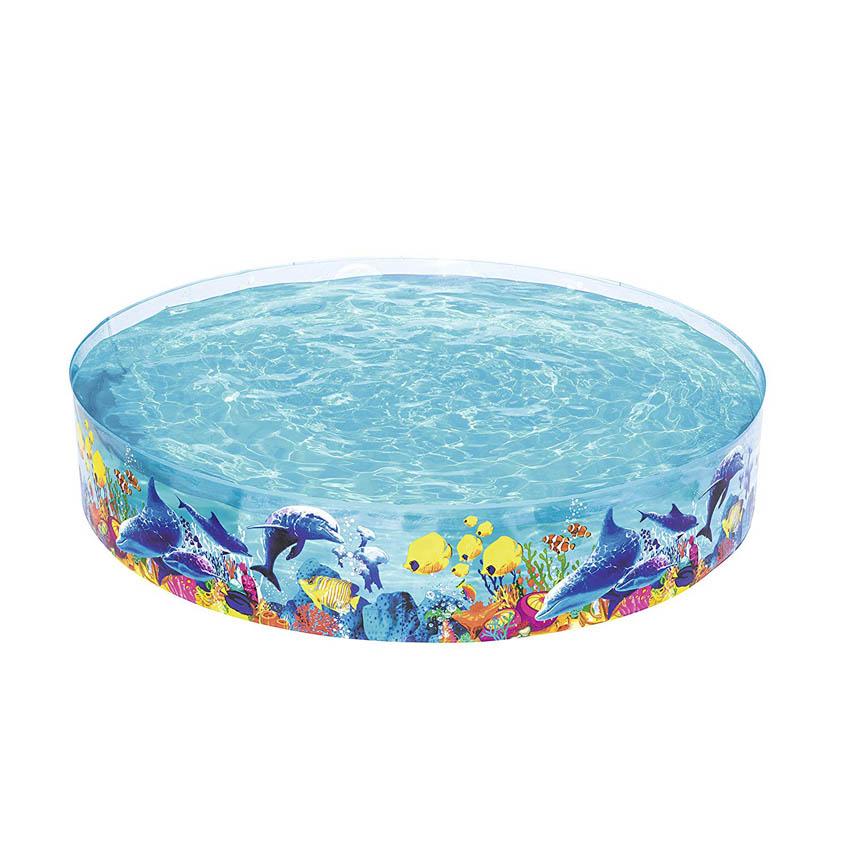 1.22 M X 25 CM Rigid Walled Sea Life Fishes Kids Pool Kids Paddling Pool