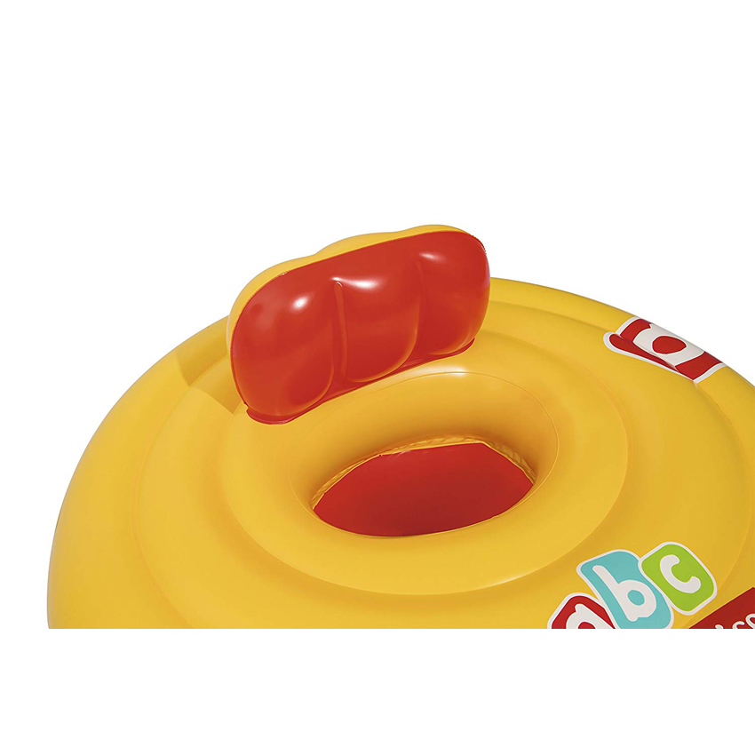 "Bestway 93518 Fisher Price Swim Safe Triple Ring Baby Seat Step A Vinyl Yellow Swim Float 69cm 27"" Swimming Pool"