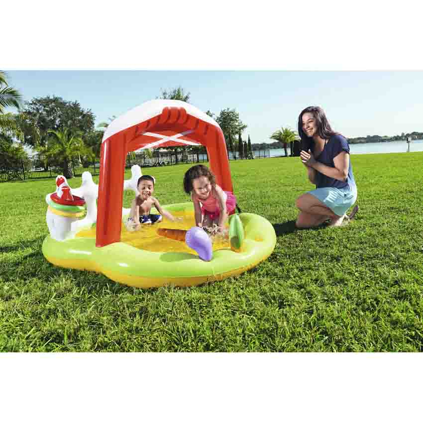 Bestway 53065 Lil' Farmer Play Center Swim Pool 1.75m x 1.47m x 1.02m Summer Garden Kids Family Swimming Pool