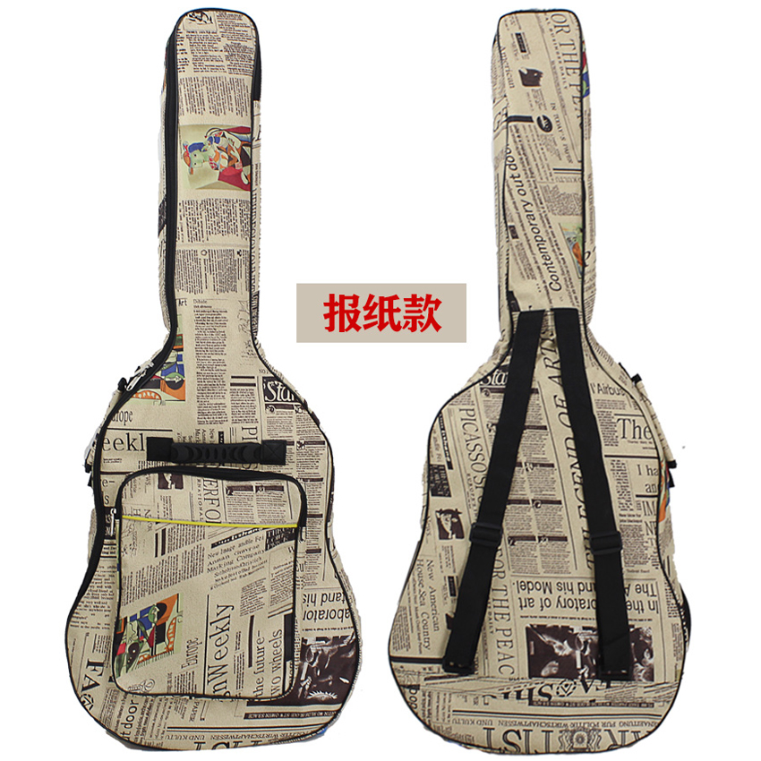 41 inch Acoustic Guitar Padded Gig Bag Beg Gitar Akustik Backpack Hand Carry (THICK)