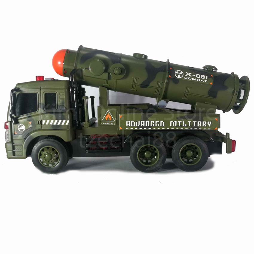 Missile Vehicle Educational Toy Sound & Light 1:16 Military Series WY650B Wen Yi