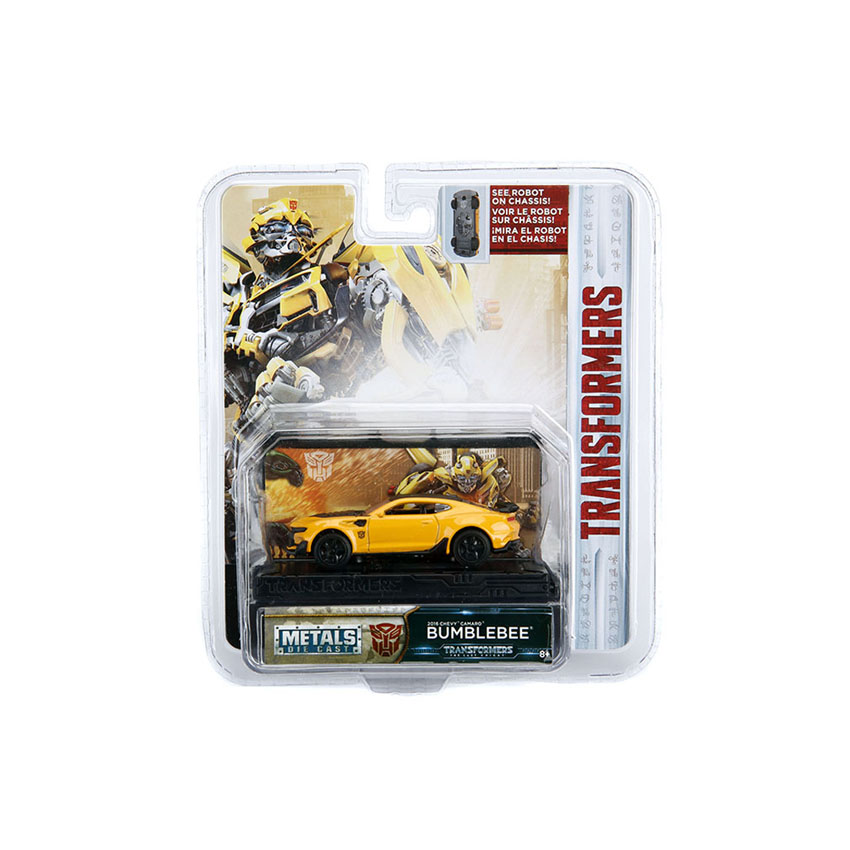 Jada 1:64 Transformers: The Last Knight Die-Cast Bumblebee Chevy Camaro Car Yellow Model Collection