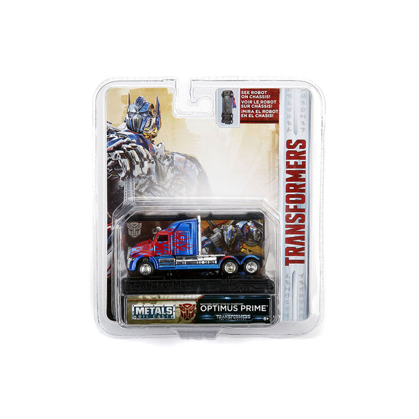 Jada 1:64 Transformers: The Last Knight Die-Cast Optimus Prime Western Star 5700 Car Blue Model Collection