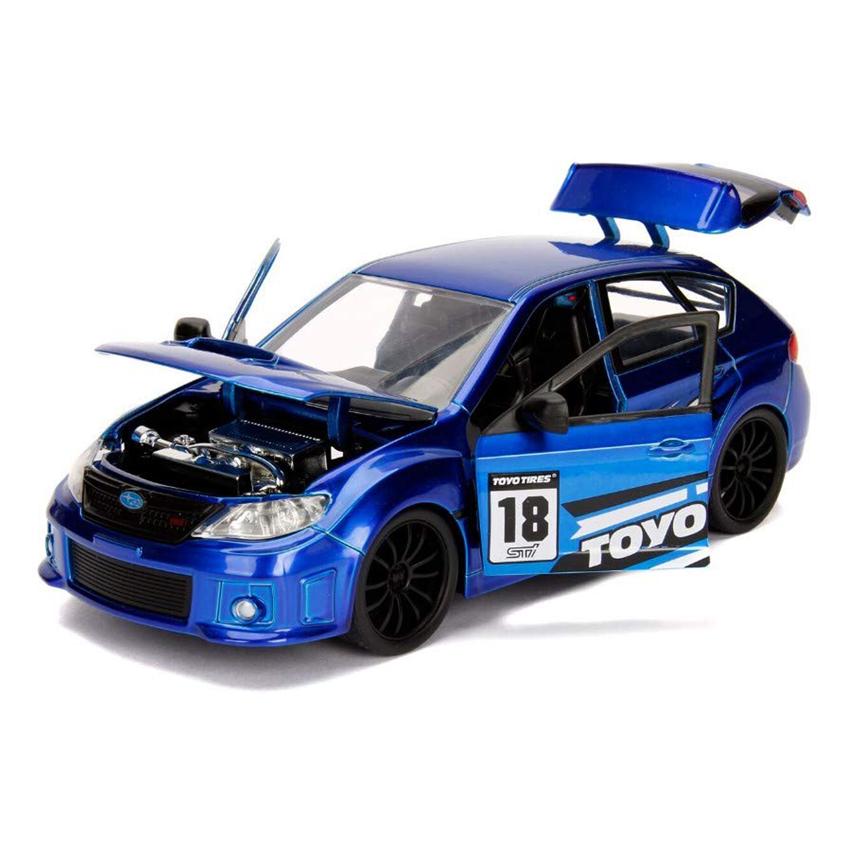 Jada 1:24 JDM Tuners Die-Cast 2012 Subaru Impreza WRX STI Car Blue Model Collection
