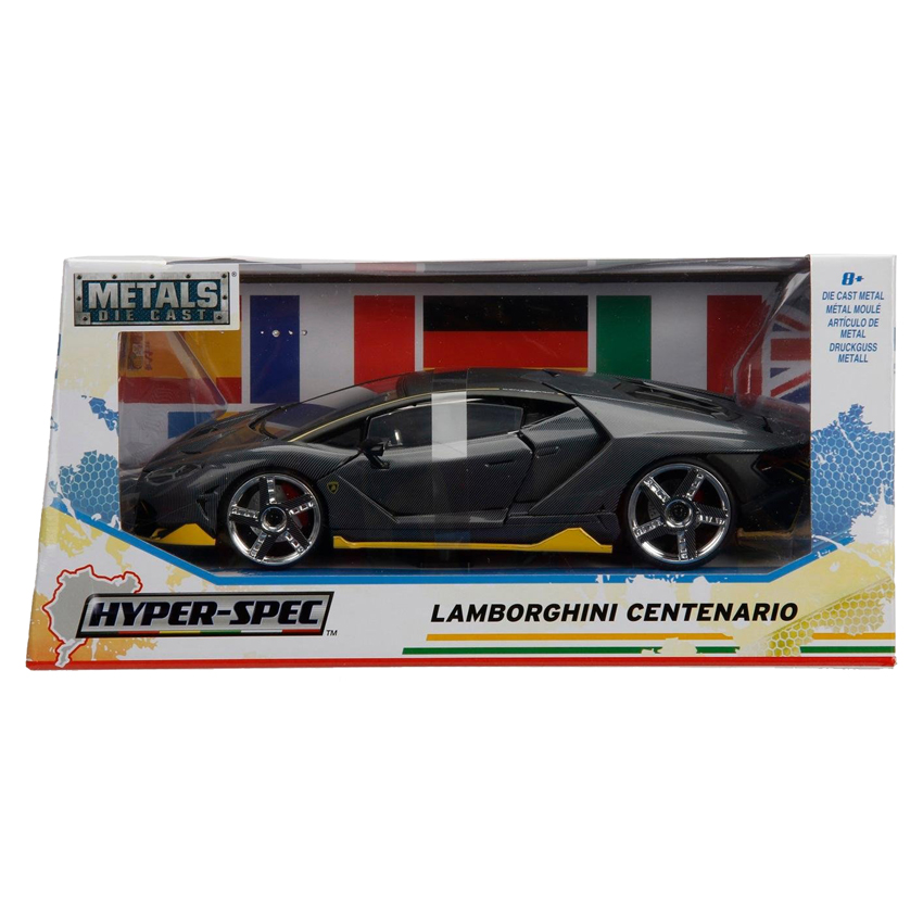Jada 1:24 Hyper Spec Die-Cast Lamborghini Centenario Car Grey Model Collection