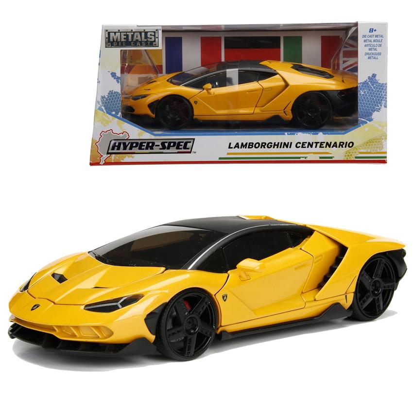 Jada 1 24 Hyper Spec Die Cast Lamborghini Centenario Car Yellow