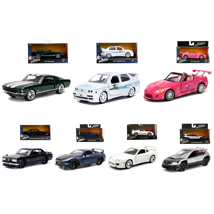 Jada Fast & Furious 1:32 7 in 1 Set Car New Stock Die-cast Model Collection