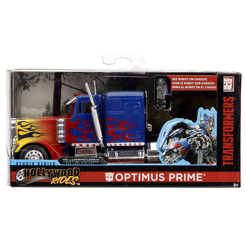 Jada 1:32 Die-Cast Optimus Prime T1 Transformers Hollywood Rides Model Collection