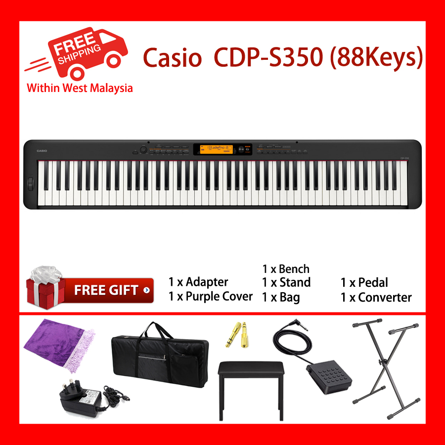 88 Keys Casio CDP-S350 Digital Electronic Musical Instruments Keyboard Piano New