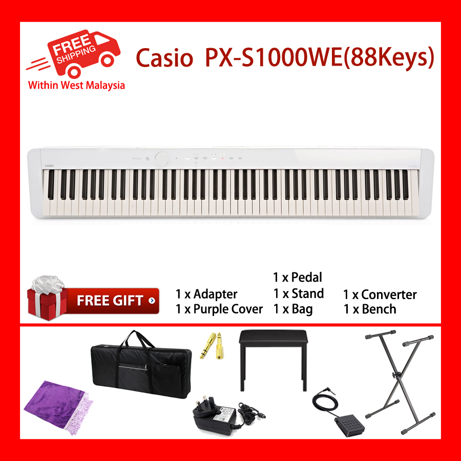 88 Keys Casio PX-S1000 WE Digital Electronic Musical Instruments Keyboard Piano