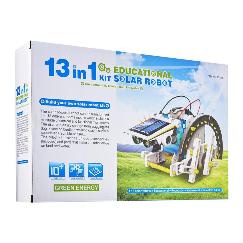 13 in 1 Eductional DIY Solar Robot Toy Environmental Protection Energy Savins Kit Enjoyable
