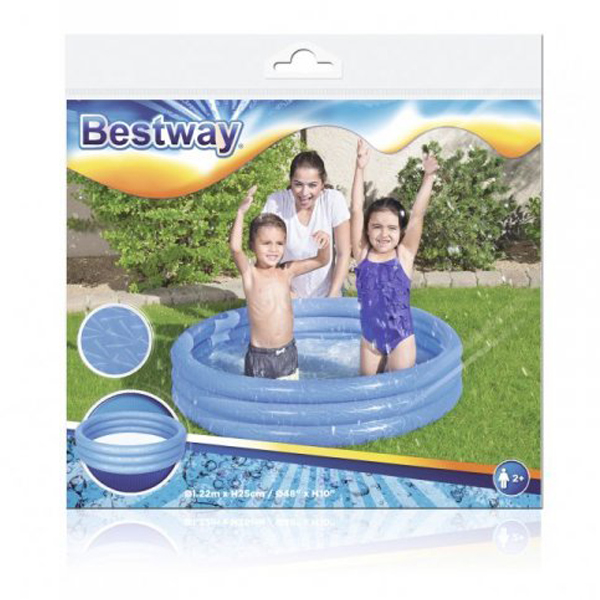 Bestway 51025 L 1.22m x H 25cm Inflatable Play Pool Safety Valves Kids New