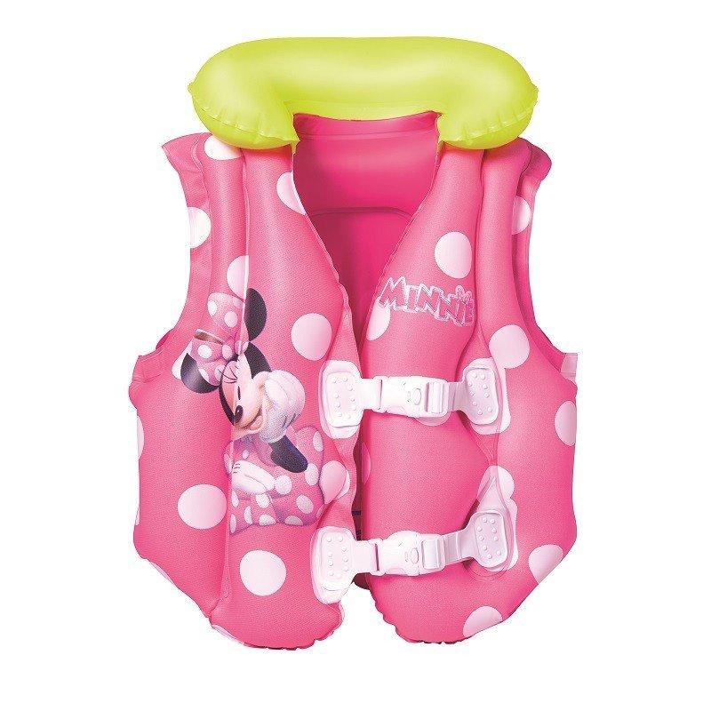 Bestway 91070 51cm x 46cm Disney Minnie Mouse Swim Vest Pool Beach Float