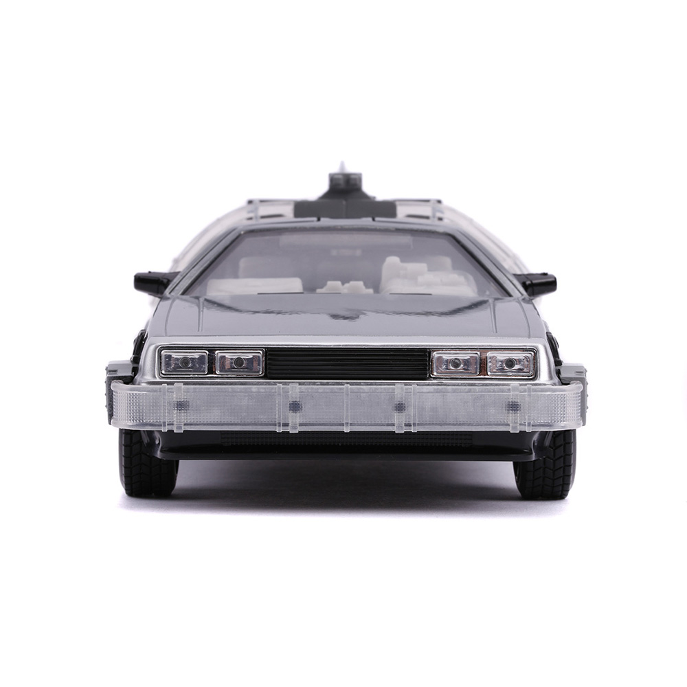 Jada 1:24 Die-Cast Back To The Future Part II Time Machine Car Model Collection Light