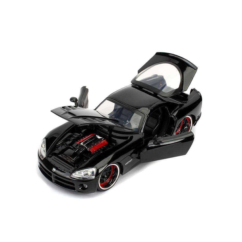 Jada 1:24 Fast & Furious Die-Cast Letty's 2008 Dodge Viper SRT 10 Black Model Collection