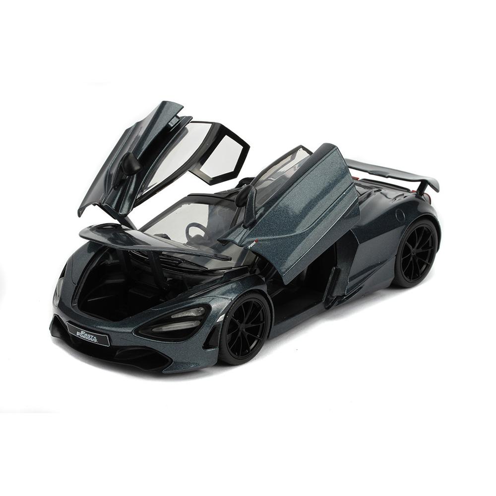Jada 1:24 Fast & Furious Hobbs & Shaw Die-Cast Shaw's Mclaren 720S Grey Model Collection
