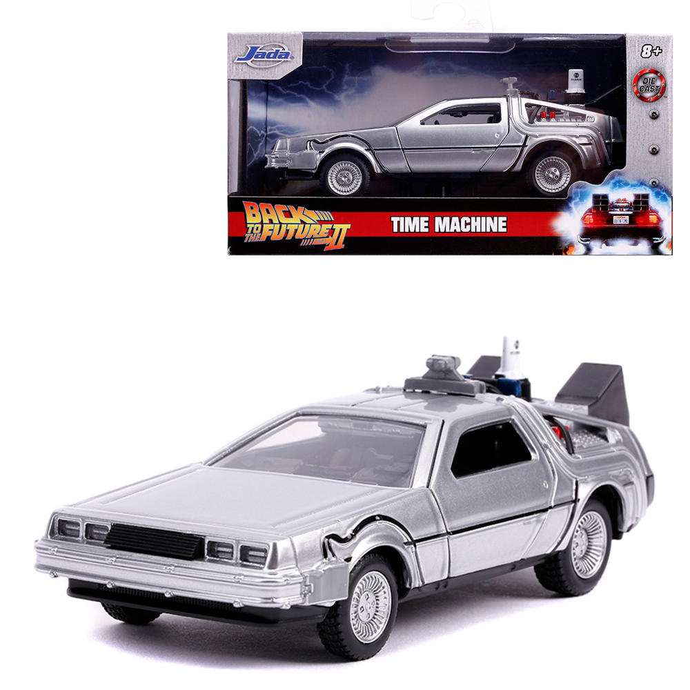 Jada Back To The Future Part II 1:32 Diecast Time Machine Car Silver Model Collection