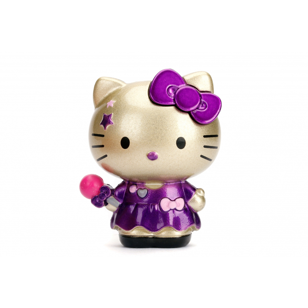 Dickie Toys Sanrio Hello Kitty 2.5 inch Die-cast Metal Action Figure Gold Model Collection