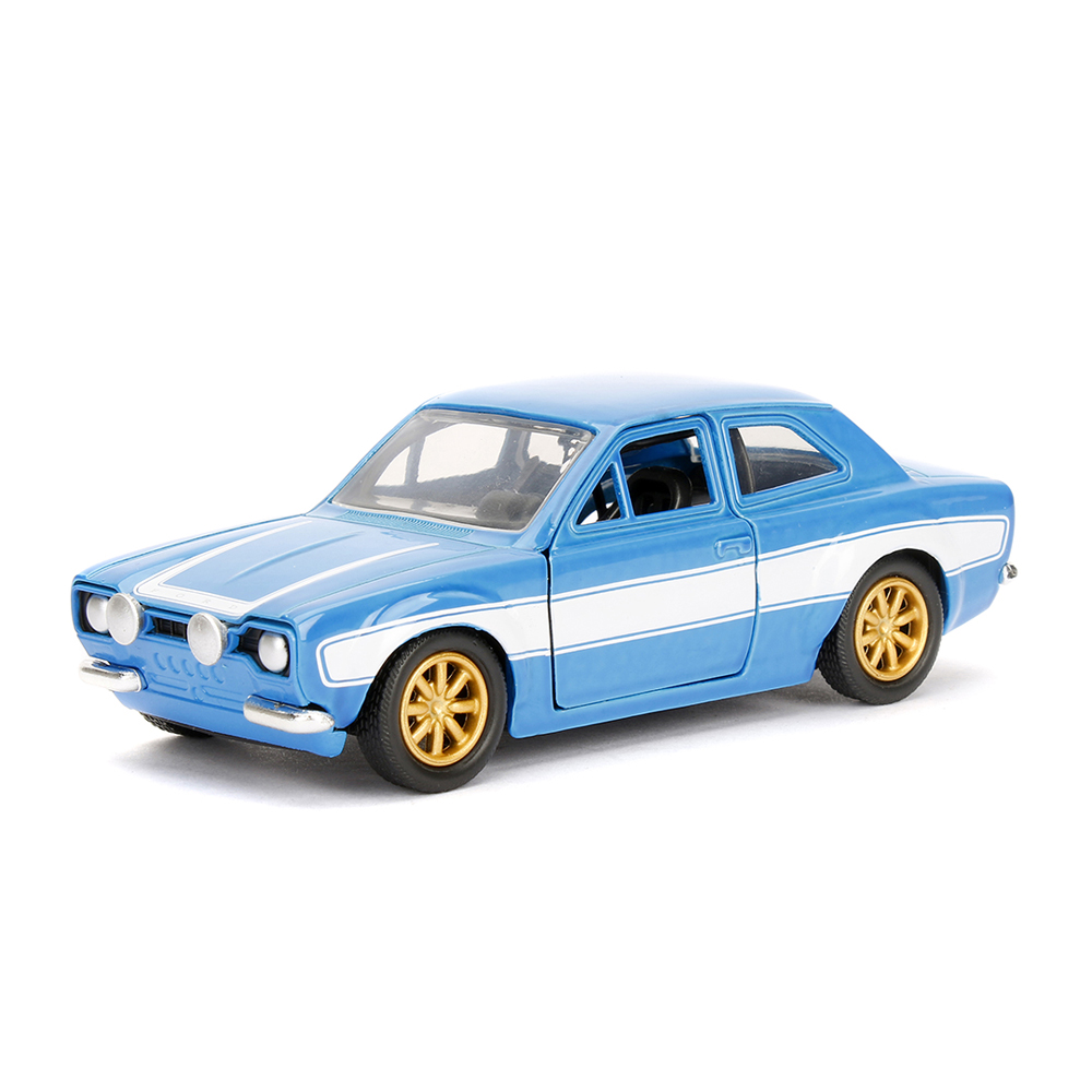 Jada Fast & Furious 1:32 Diecast Brian's Ford Escort Car Blue Model Collection