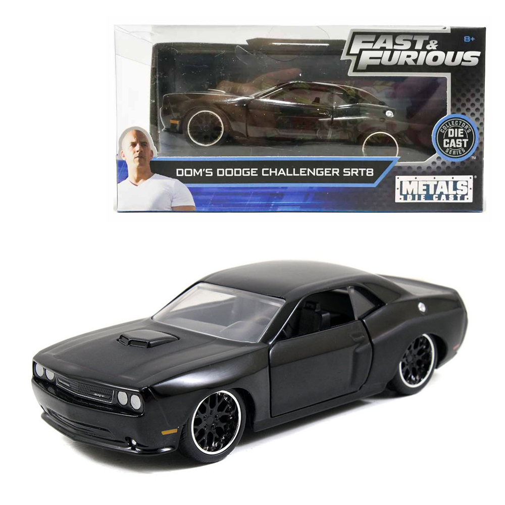 Jada Fast & Furious 1:32 Diecast Dom's 2012 Dodge Challenger SRT8 Car Black Model Collection
