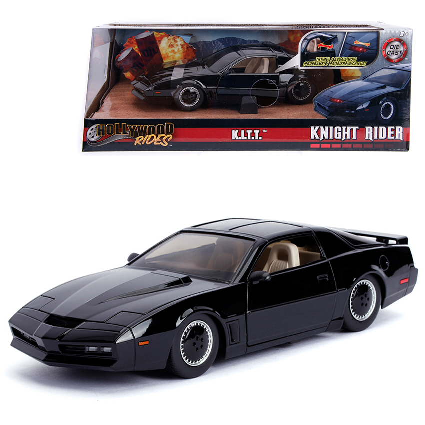 Jada 1:24 Die-Cast Hollywood Rides K.I.T.T. 1982 Pontiac Firebird (Knight Rider) Car Black Model Collection