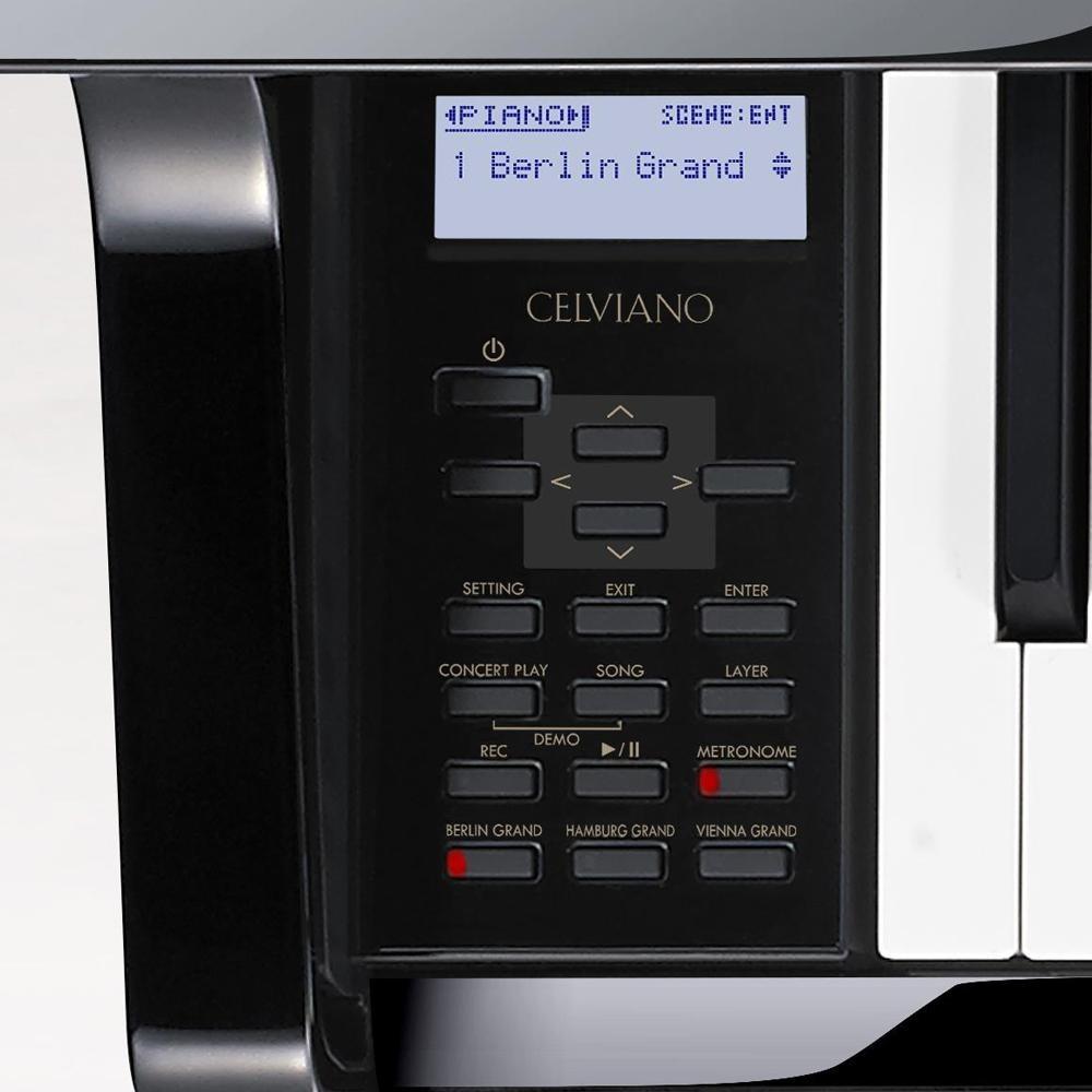 88 Key Casio GP-500 BK Celviano Grand Piano Bench 256 Note Polyphony 6 Speakers 60 Songs MIDI USB
