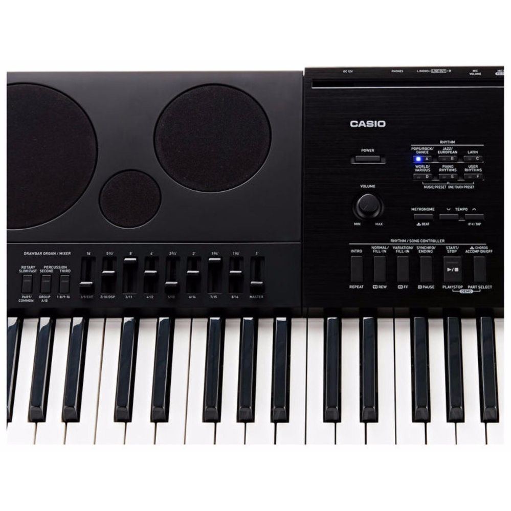 76 Key WK-7600 Casio High Grade Electronic Keyboard Piano Organ 750 Tones 500 Rawbar 250 Rhtyhms 5 Demos Layer/Split Speed Dial Tone Editor