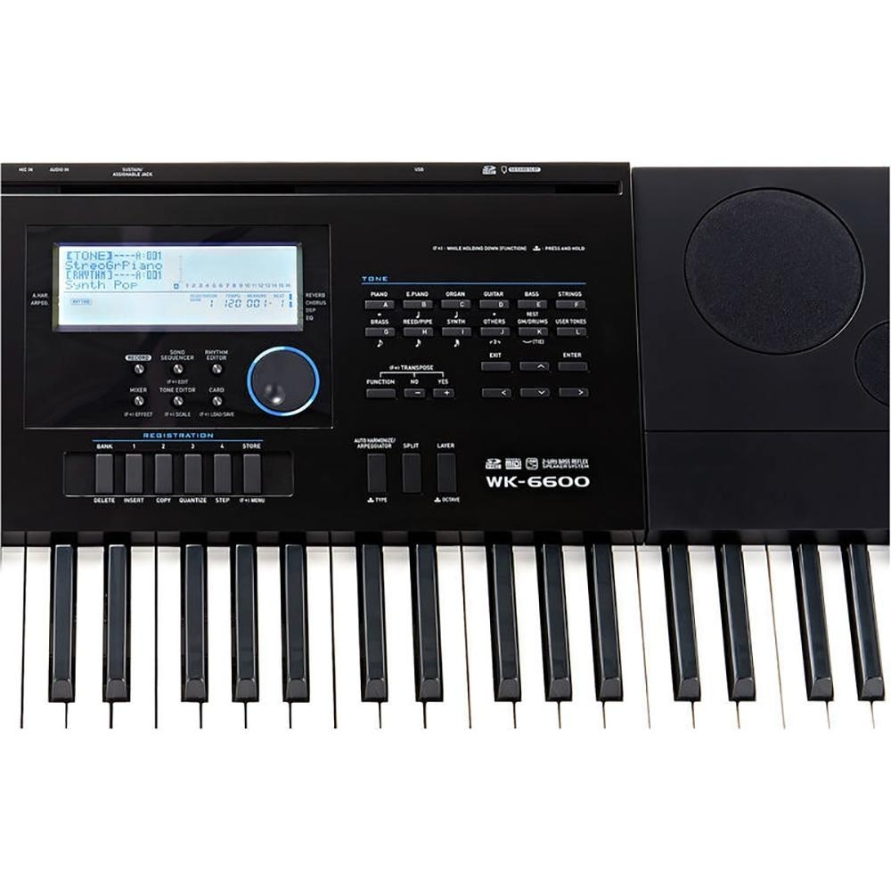 76 Key WK-6600 Casio Electronic High Grade Keyboard Piano Organ 670 Tones 200 Rhythms 5 Demo Tone Speed Dial Tone Editor rhythm Editor