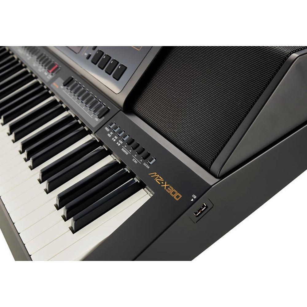 61 Key Casio MZ-X300 Electronic Keyboard Arranger Piano Organ 900 Preset Tones 280 Rhythms 4Phrase Pads Color Touch LCD XY-Graph Parametric EQ Drabar Organ Real Time