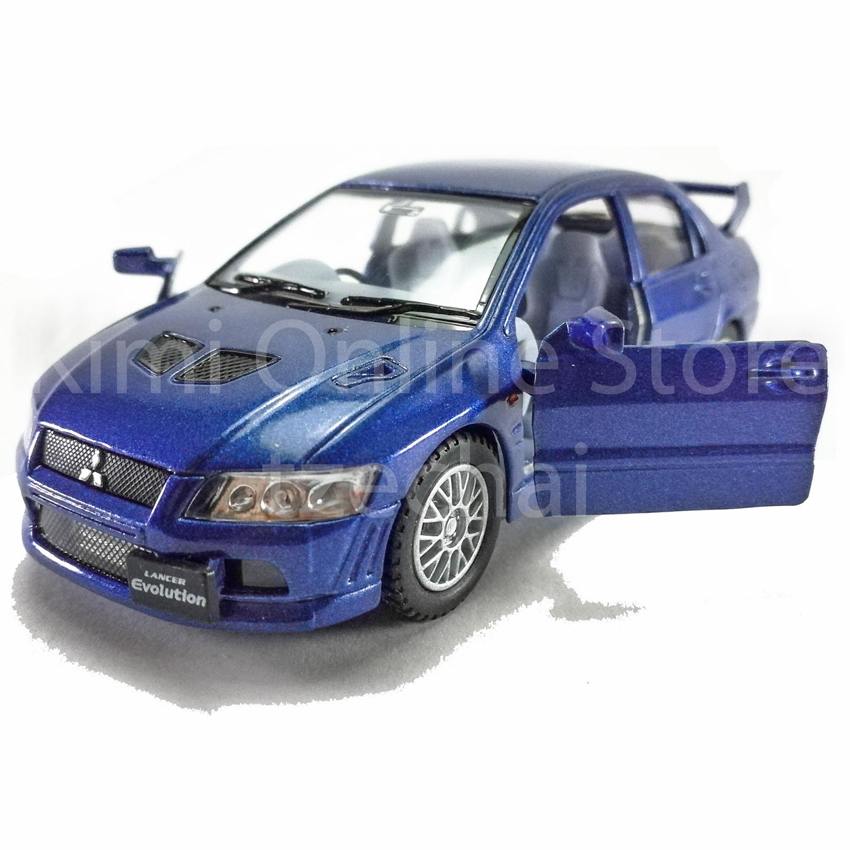 Kinsmart Diecast Car 1:36 Mitsubishi Lancer Evolution Vii Model Toys with Box Collection Christmas Gift
